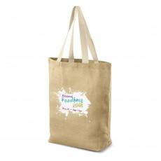 Printed Blake Jute Tote Bag