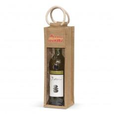 Brandable Hunter Jute Wine Carrier