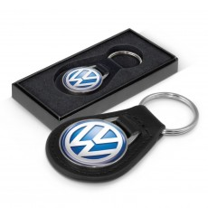 Promotional Round Leather Keyrings