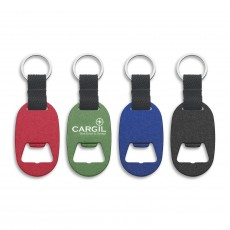 Imprinted Bottle Opener Metal Keyrings