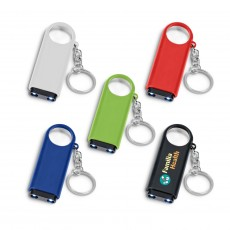 Imprinted Keyring Lights Magnifiers