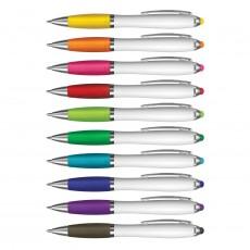 Voss White Barrel Stylus Pens