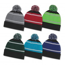 Triple Colour Striped Beanies