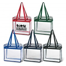 Transparent Tote Zippered bags