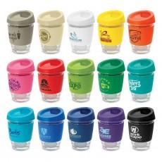 Printed 340ml Glass Reusable Cups