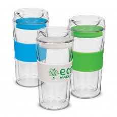 Promotional Rolo Double Wall Glass Cups