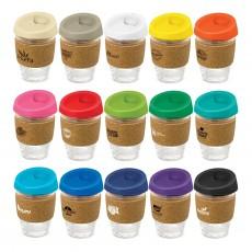 Reusable Glass Cups Cork Bands