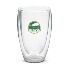Promotional Double Wall Glass Coffee Cup 410ml