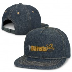 Promotional Flat Peak Caps Denim