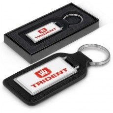 Promotional Leather Rectangle Keyrings