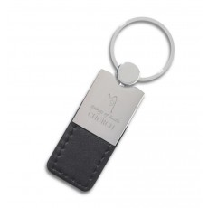 Promotional  Metal Leather Keyrings