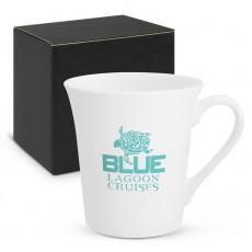 Promotional Porcelain Mugs Contoured