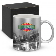 Promotional Silver Coloured Coffee Mugs
